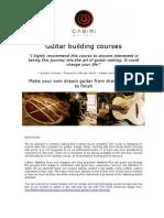 Guitar Building Course
