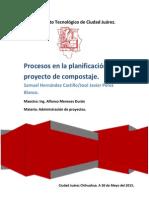 Procesos en La Planificación de Un Proyecto
