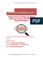 Global Smart Clothing and Body Sensors Industry 2015 Market Research Report