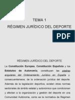 Tema1 Regimen Juridico Del Deporte