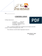 Certifications Including the FDA