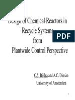 Design of Chemical Reactors