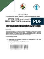 Convocatoria Festival Sudamericano de la Juventud 2015 - Corregido-6-08-2015-1