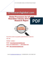 Global Processors for IoT and Wearables Industry 2015 Market Research Report