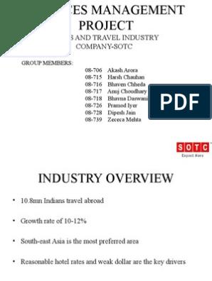 Final Tourism Ppt | Sales | Tourism
