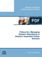 Follow on - Managing Student Attendance in Public Schools - Office of the Auditor-General