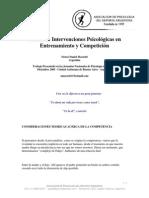 Natacion Intervenciones Psicologicas en Entrenamientos y Competicion