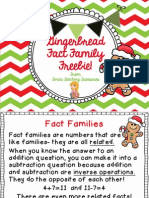 Gingerbread Fact Family Freebie