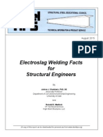 Electroslag Welding Facts for Structural Engineers