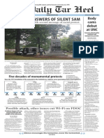 The Daily Tar Heel for August 19, 2015