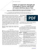 An Experimental Study on Compressive Strength and Splitting Tensile Strength of Concrete with Partial Replacement of Cement with Stone Quarry Dust