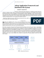 Internals of Hadoop Application Framework and Distributed File System