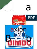 abecedario etiquetas comerciales