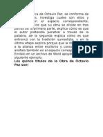 La Obra Poética de Octavio Paz
