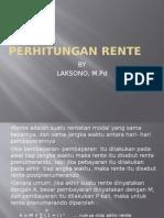 PERHITUNGAN RENTE