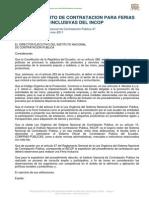 Procedimiento de Contratacion Para Ferias Inclusivas Del Incop