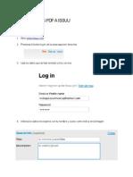 Como Subir Los PDF a Issuu