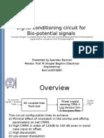 Signal conditioning circuit for Bio-potential signals