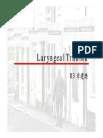 Laryngeal Trauma 20080722