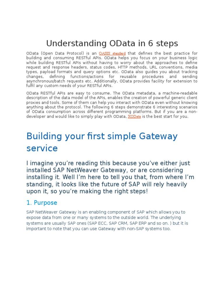 Understanding OData   Representational State Transfer   Application