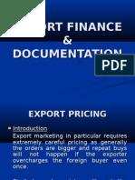Export Finance & Documentation