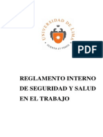 Ulima Sst Reglamento Interno de Seguridad y Salud en El Trabajo