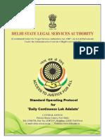 Daily Continuous Lok Adalat SOP in Delhi