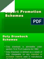 Export Promotion Schemes