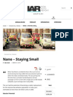 Nano - Staying Small _ India Auto Report
