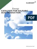 Sulfuric acid catalyst