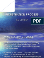 Registration Process (Iec Number)