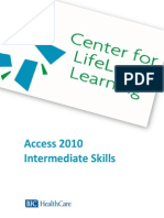 PDF 2010 Microsoft Access Intermediate Skills Manual