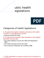 Public Health Legislations