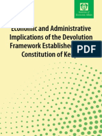 Economic and Administrative Implications of Devolution