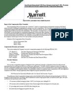 Marriot Executive Compensation