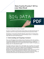 How is Big Data Used in Practice 10 Use Cases Everyone Must Read