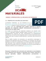 Mecánica de Materiales u1 Apuntes 2015