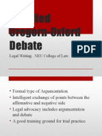 Modified Oregorn-Oxford Debate