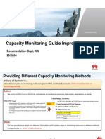 Capacity Monitoring Guide Improvements