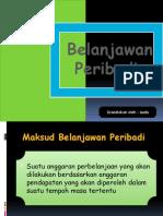 Belanjawan Peribadi (ekonomi asas)