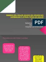 Sesion Clinica Urgencias Lumbalgia y Manejo