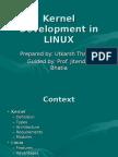 Kernel Development in LINUX