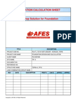 Perhitungan Struktur Pondasi Tower PLN Dengan Software AFES