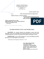 Motion for Pre-trial