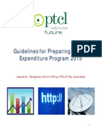 Guidelines for Preparing Capital Expenditure Program 2015