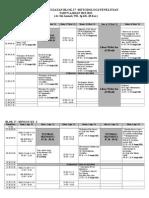 Jadwal Blok 17 Metodologi 2013