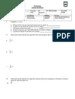Evaluacion Fracciones 5to