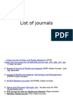 List of Journal