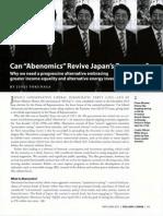 Can Abenomics Revive Japan's Economy?