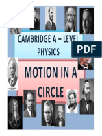 Chapter 07 Motion in a Circle